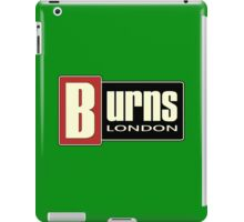 Vintage Burns London iPad Case/Skin