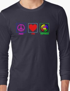 Peace, Love and Happiness Long Sleeve T-Shirt