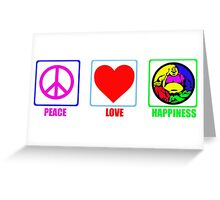 Peace, Love and Happiness Greeting Card