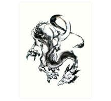 Dragon Brush Art Print