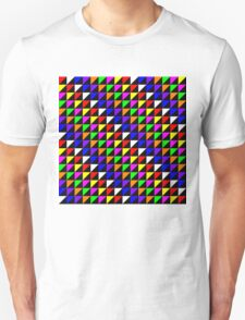 Triangle Repeated Colourful Pattern Unisex T-Shirt