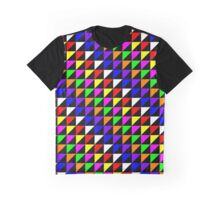 Triangle Repeated Colourful Pattern Graphic T-Shirt