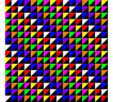 Triangle Repeated Colourful Pattern Photographic Print
