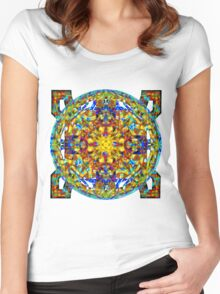 Celtic Knots In Space Women's Fitted Scoop T-Shirt