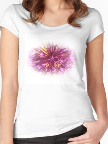 blossom art Women's Fitted Scoop T-Shirt