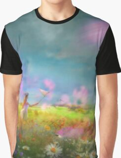 Butterfly Hunting Graphic T-Shirt