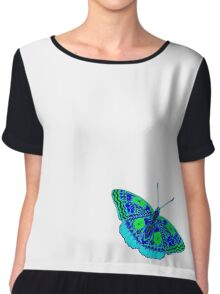 butterfly with colored patterns Chiffon Top