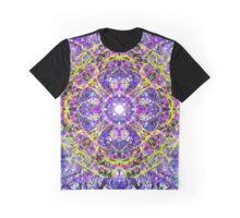 Yellow Construction On Purple Brachiations  Graphic T-Shirt