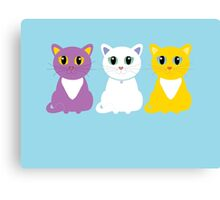 Only Three Cats Canvas Print