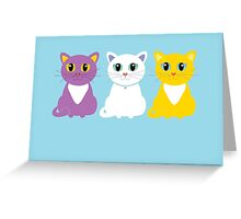 Only Three Cats Greeting Card