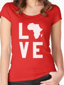 With Love from Africa Women's Fitted Scoop T-Shirt