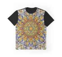 Intricate Fretwork Over White Graphic T-Shirt