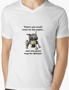One small cross on the paper, but one giant leap for Britain Mens V-Neck T-Shirt