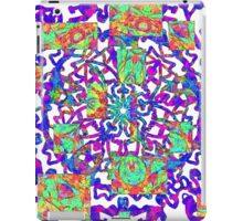 Psychedelic Purple And Orange Vortex iPad Case/Skin