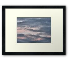 Flamingo sky Framed Print