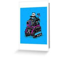 Panda's Skull Tank Greeting Card
