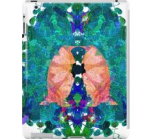 Four Penguins In Green And Blue Marble Inlay iPad Case/Skin