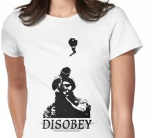 Disobey at War Womens Fitted T-Shirt