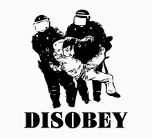 Disobey Police Womens Fitted T-Shirt
