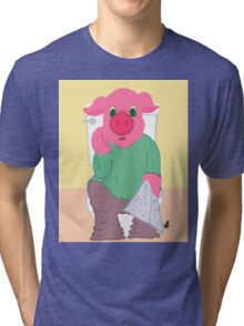 Pig on the Hopper Tri-blend T-Shirt