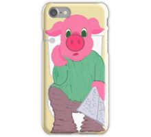 Pig on the Hopper iPhone Case/Skin
