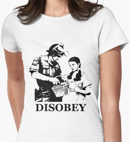 Disobey Search Womens Fitted T-Shirt