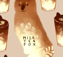Milk Tea Fox Sticker
