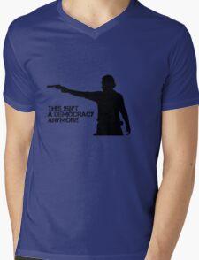 Rick Grimes - This Isn't a Democracy Mens V-Neck T-Shirt