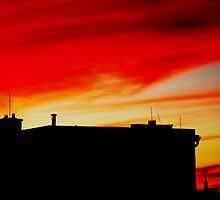 Red evening Sky by brijo