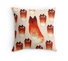 Thai Tea Fox Throw Pillow