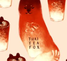 Thai Tea Fox Sticker