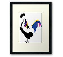 rooster cockerel cock chicken Framed Print