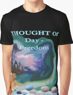 Thought Gold Fish Graphic T-Shirt