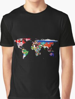 The World Flag Map Graphic T-Shirt