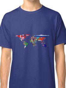 The World Flag Map Classic T-Shirt