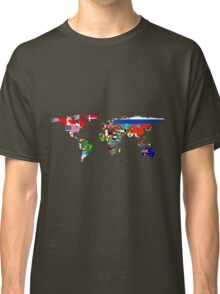 The World Flag Map Classic T-Shirt