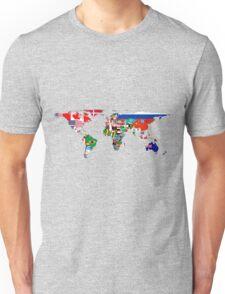 The World Flag Map Unisex T-Shirt