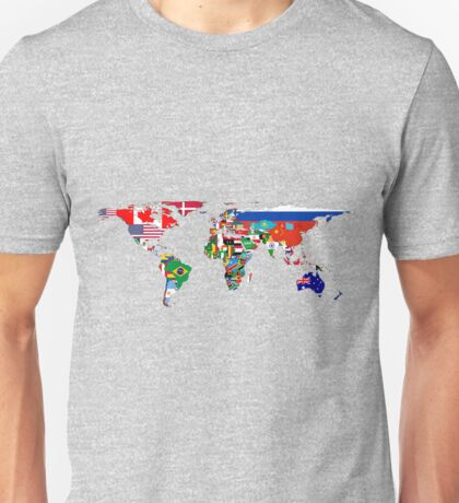 The World Flag Map Unisex T-Shirt