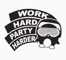 Work Hard Party Harder Logo Design T-Shirt