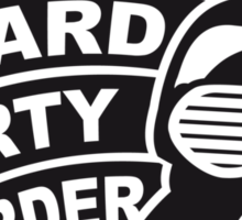 Work Hard Party Harder Logo Design Sticker