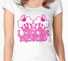Frosted Women's Fitted Scoop T-Shirt