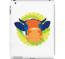 Cartoon Cow Animal iPad Case/Skin