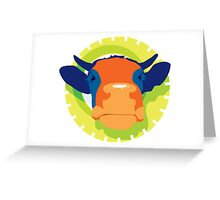 Cartoon Cow Animal Greeting Card