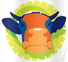 Cartoon Cow Animal Poster