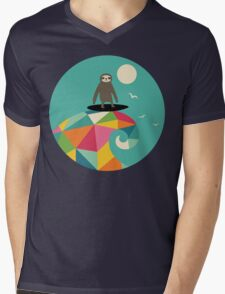 Surfs Up Mens V-Neck T-Shirt