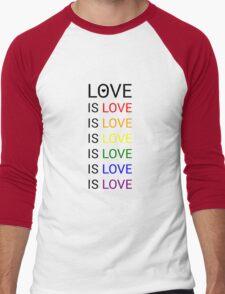 love is love is love Men's Baseball ¾ T-Shirt