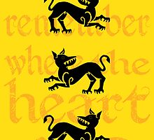 Clegane Sigil & Quote- Yellow by ReekieW