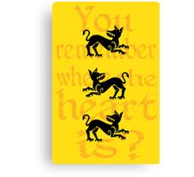 Clegane Sigil & Quote- Yellow Canvas Print