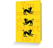 Clegane Sigil & Quote- Yellow Greeting Card