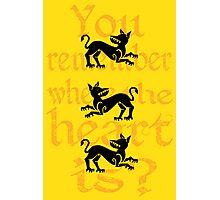 Clegane Sigil & Quote- Yellow Photographic Print
